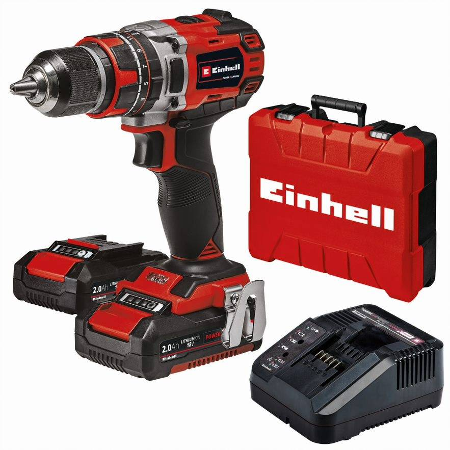 Einhell Power X-Change TE-CD 18/50 18V 2Ah iskevä akkuporakone