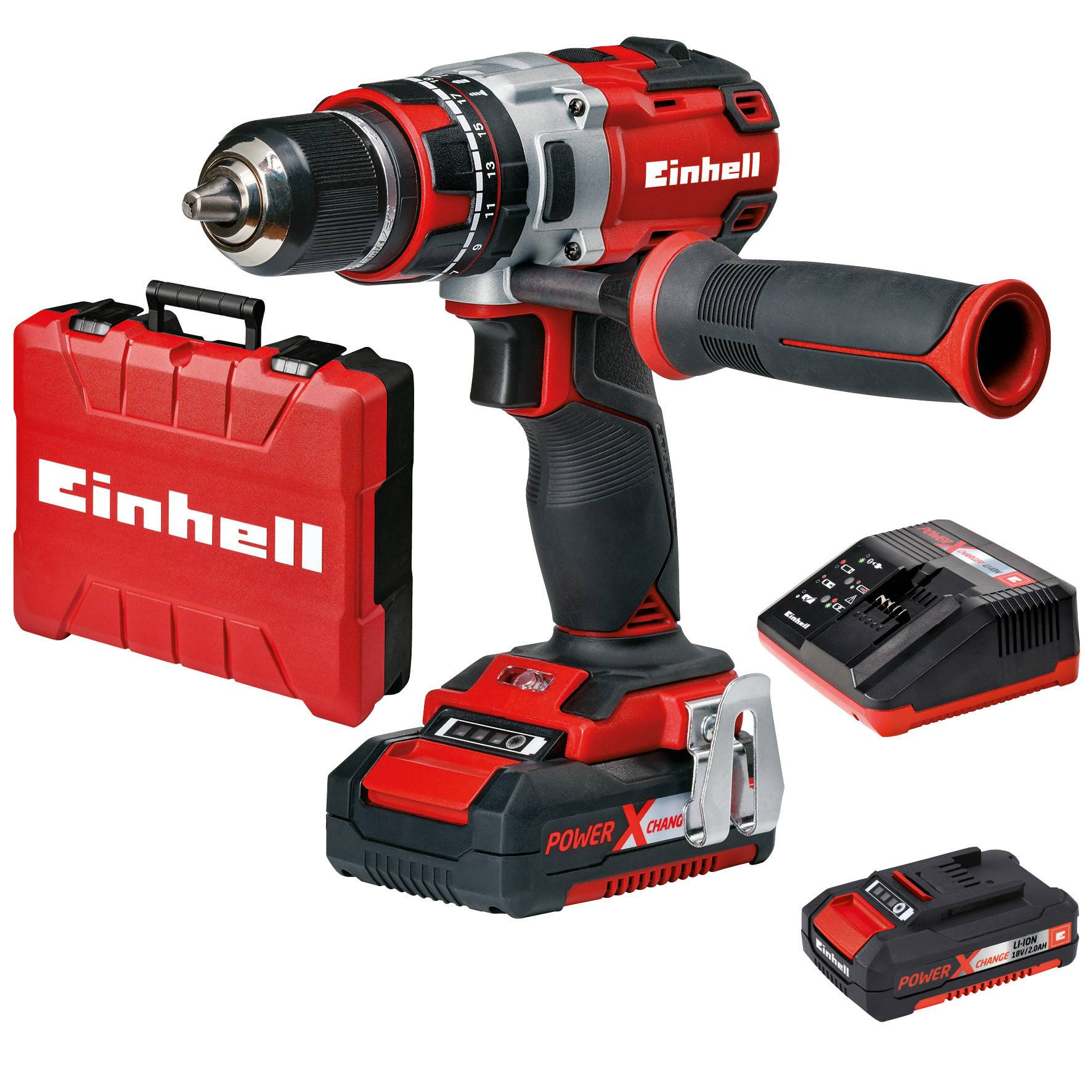 Einhell Power X-Change TE-CD 18V 2Ah iskevä akkuporakone